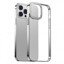 BASEUS Metallic iPhone 13 Pro Max Hoesje - Zilver