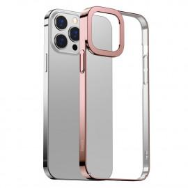 BASEUS Metallic iPhone 13 Pro Hoesje - Rose Gold