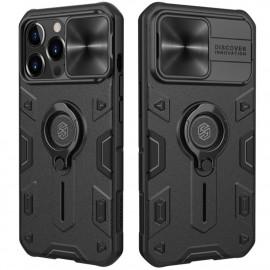 Nillkin Armor CamShield iPhone 13 Pro Max Hoesje - Zwart