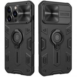 Nillkin Armor CamShield iPhone 13 Pro Hoesje - Zwart