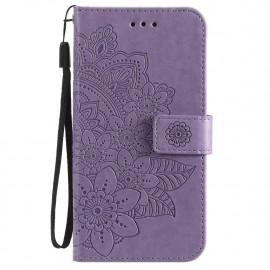Bloemen Book Case Xiaomi Poco X3 Pro Hoesje - Paars