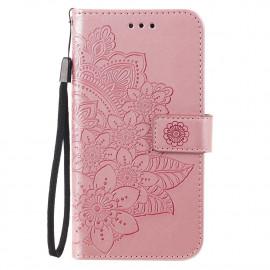 Bloemen Book Case Xiaomi Poco X3 Pro Hoesje - Rose Gold