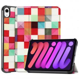 Tri-Fold Book Case iPad Mini 6 (2021) Hoesje - Colour Squares
