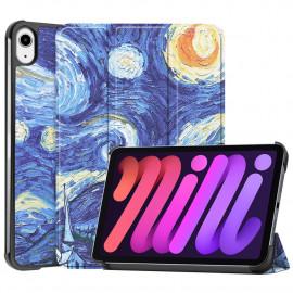 Tri-Fold Book Case iPad Mini 6 (2021) Hoesje - Sterrennacht