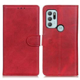 Luxe Book Case Motorola Moto G60S Hoesje - Rood
