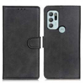 Luxe Book Case Motorola Moto G60S Hoesje - Zwart