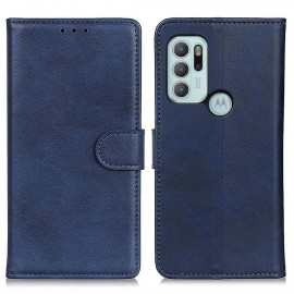 Luxe Book Case Motorola Moto G60S Hoesje - Blauw