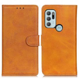 Luxe Book Case Motorola Moto G60S Hoesje - Bruin