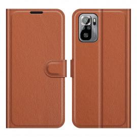 Book Case Xiaomi Redmi Note 10 4G / 10S Hoesje - Bruin