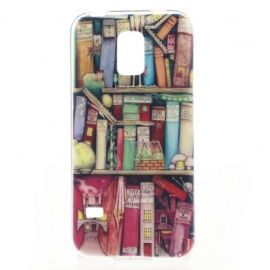 TPU Hoesje Samsung Galaxy S5 Mini - Bookshelf