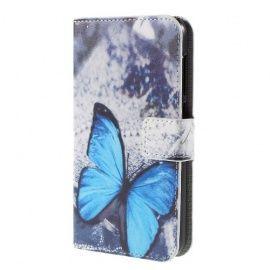 Book Case Hoesje Huawei Y625 - Blauwe Vlinder