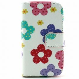 Book Case Hoesje Samsung Galaxy S3 Mini - Bloemen