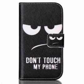 Book Case Hoesje Samsung Galaxy Xcover 3 - Don't Touch my Phone