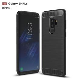 Armor Brushed TPU Case Samsung Galaxy S9 Plus - Zwart