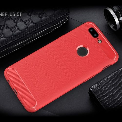 Armor Brushed TPU Case OnePlus 5T - Rood