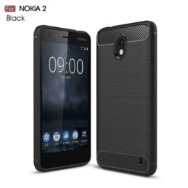 Armor Brushed TPU Case Nokia 2 - Zwart