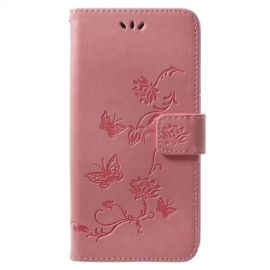 Book Case Hoesje Bloemen Samsung Galaxy S9 Plus - Pink