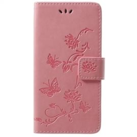Book Case Hoesje Bloemen Samsung Galaxy S9 - Pink
