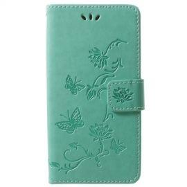 Book Case Hoesje Bloemen Samsung Galaxy S9 - Cyan