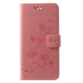 Book Case Hoesje Bloemen Huawei Mate 10 Lite - Pink