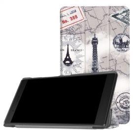 Tri-Fold Book Case Lenovo Tab 4 7 Essential - Eiffeltoren