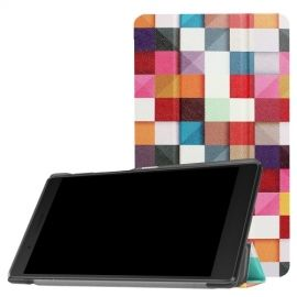 Tri-Fold Book Case Lenovo Tab 4 7 Essential - Colour Squares