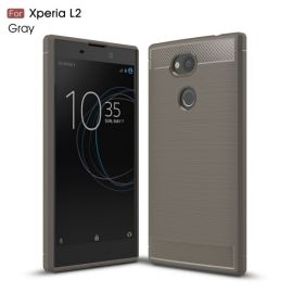 Armor Brushed TPU Case Sony Xperia L2 - Grijs