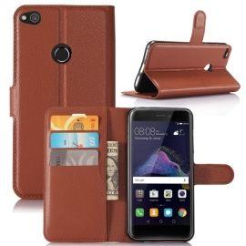 Book Case Hoesje Huawei P8 Lite (2017) - Bruin
