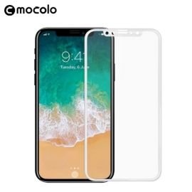 Mocolo Full Cover Tempered Glass iPhone Xs / X - Wit