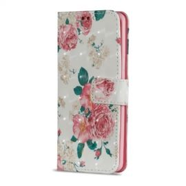 Shiny Book Case Samsung Galaxy S9 - Bloemen