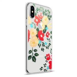 Design TPU Hoesje Apple iPhone Xs / X - Colour Flowers