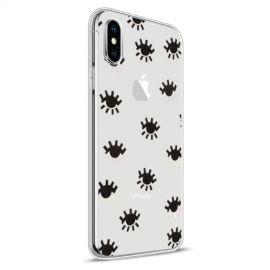 Design TPU Hoesje Apple iPhone Xs / X - Eyes