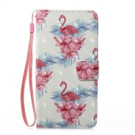 Shiny Book Case Samsung Galaxy J5 (2017) - Flamingo and Flower