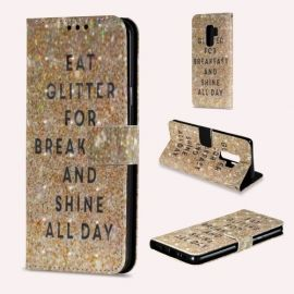 Shiny Book Case Samsung Galaxy S9 Plus - Glitter