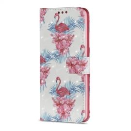 Shiny Book Case Samsung Galaxy S9 Plus - Flamingo