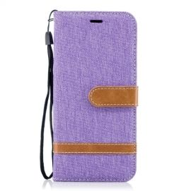 Book Case Hoesje Denim Samsung Galaxy S9 - Paars