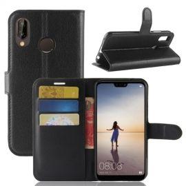 Book Case Hoesje Huawei P20 Lite - Zwart