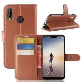 Book Case Hoesje Huawei P20 Lite - Bruin