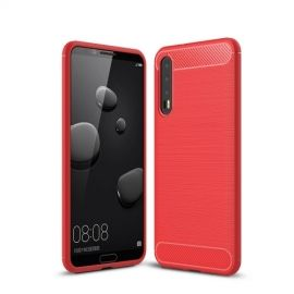 Armor Brushed TPU Hoesje Huawei P20 Pro - Rood