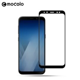 Full-Cover Tempered Glass Samsung Galaxy A8 (2018) - Zwart