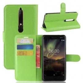 Book Case Hoesje Nokia 6.1 (2018) - Groen
