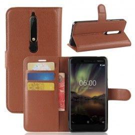 Book Case Hoesje Nokia 6.1 (2018) - Bruin
