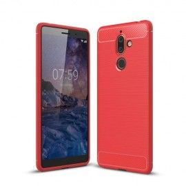 Armor Brushed TPU Hoesje Nokia 7 Plus - Rood