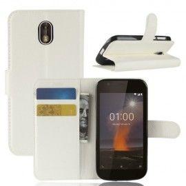 Book Case Hoesje Nokia 1 - Wit