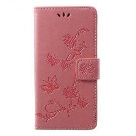 Book Case Hoesje Bloemen Huawei P20 Lite - Pink