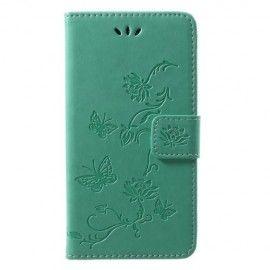 Book Case Hoesje Bloemen Huawei P20 Lite - Cyan