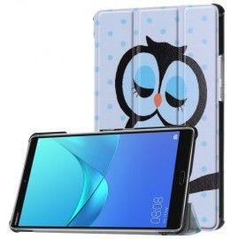 Tri-Fold Book Case Huawei Mediapad M5 8.4 - Groene Uil