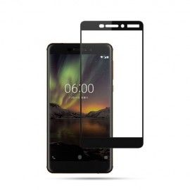 Full-Cover Tempered Glass Nokia 6.1 (2018) - Zwart
