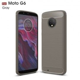 Armor Brushed TPU Hoesje Motorola Moto G6 - Grijs