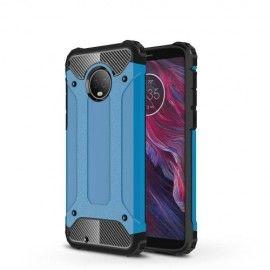 Armor Hybrid Hoesje Motorola Moto G6 - Lichtblauw